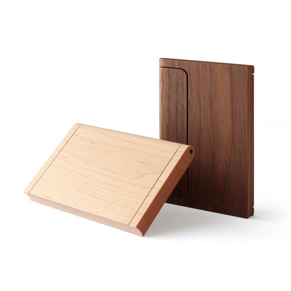 木製(メープル・ウォールナット)名刺ケース「Hacoa CardCase」