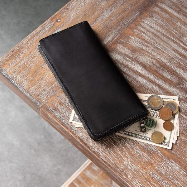 ブッテーロ・マレンマ 薄型ラウンドジップ長財布